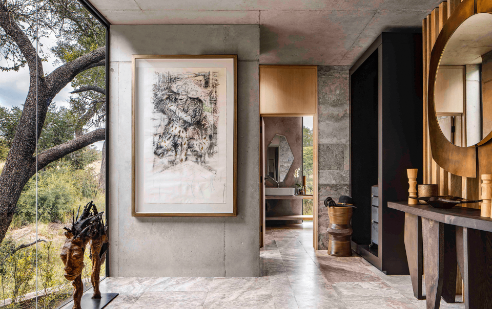Interior Residential Grounded By Nature